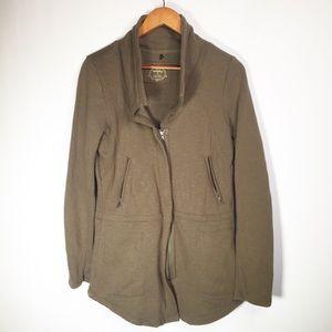 Prana Small Green Organic Cotton Zip Jacket